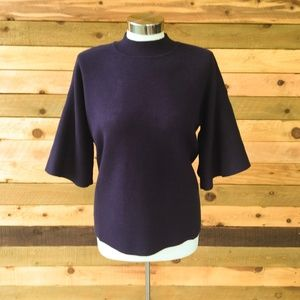 CLOSET CLEAN OUT Belle Sleeve Top Navy NWT
